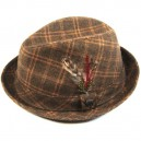 Sombrero Brixton Stroll brown plaid L