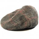 Sombrero Brixton Hooligan brown plaid M