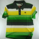 Polo SantaCruz Portola green stripe
